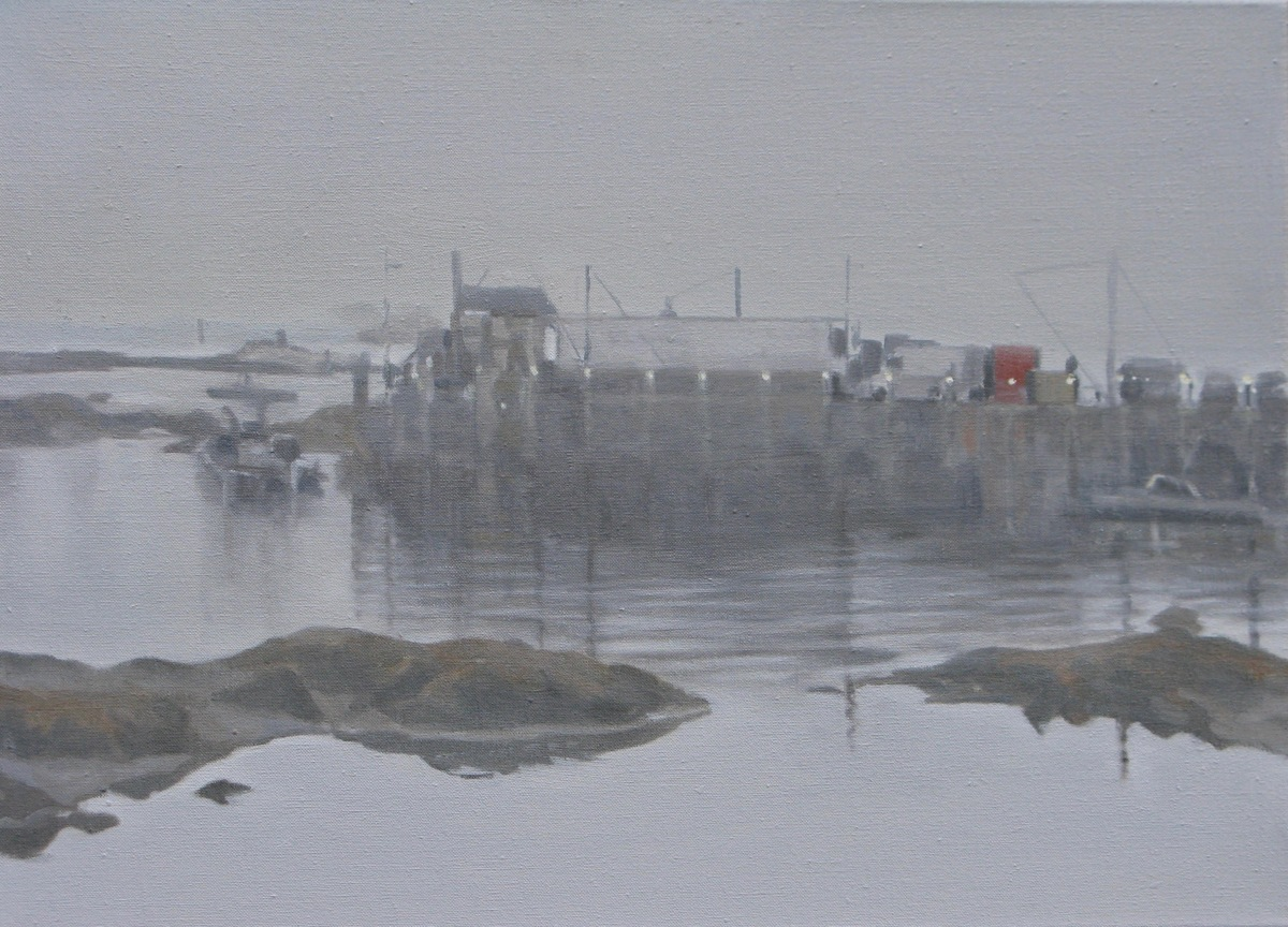 Lobster Harbour, Maine: Early Morning Mist (large view)