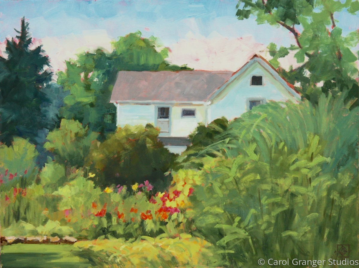 The Farmhouse From The Garden (large view)