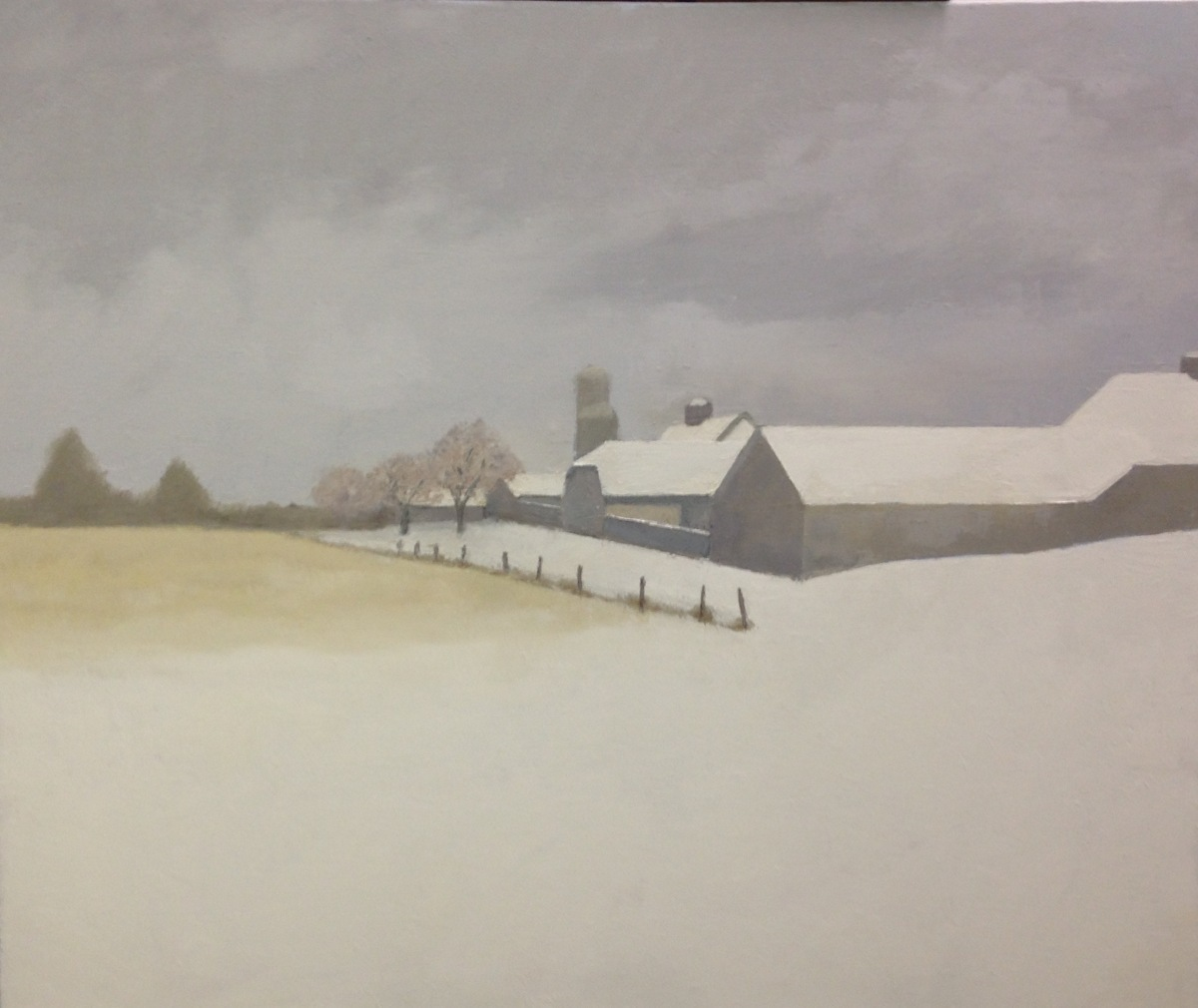 The VCCA in winter, the barns #2, 2016 (large view)