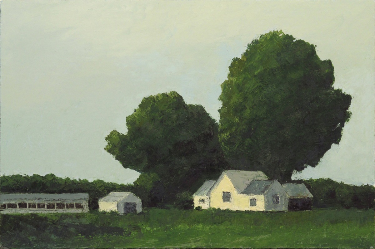 Farmhouse in trees (large view)