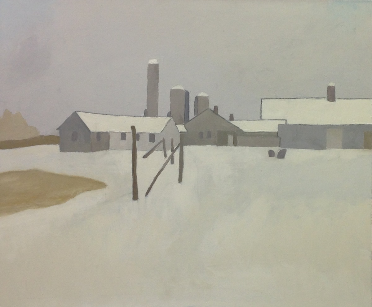 The VCCA in winter, barns #1, 2016  (large view)