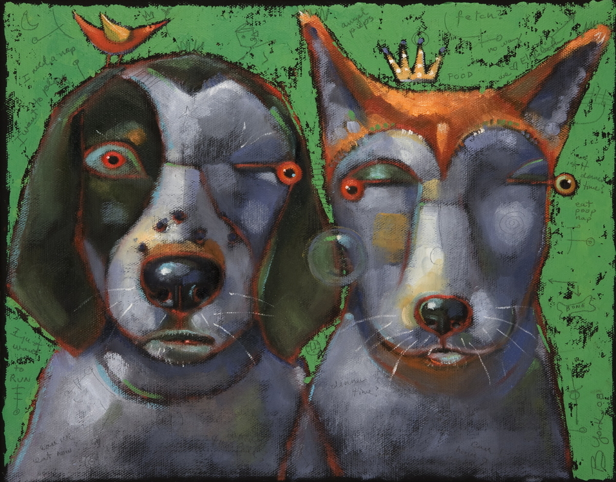 Woody And Beck, The Famous Hounds Of Montucky (large view)