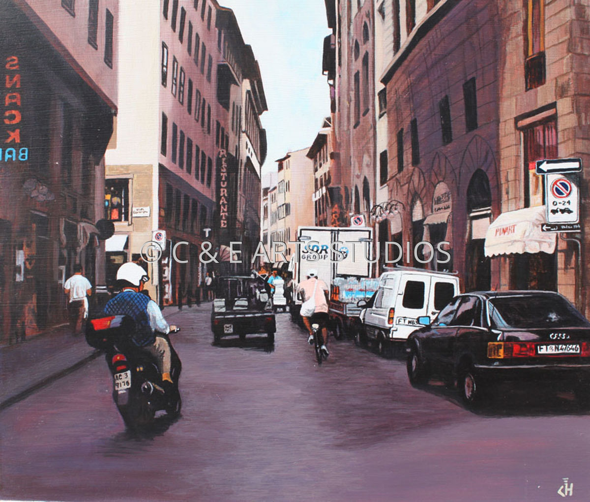 Morning Rush in Florence (large view)