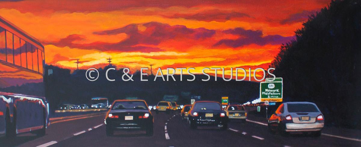 Turnpike Sunset (large view)