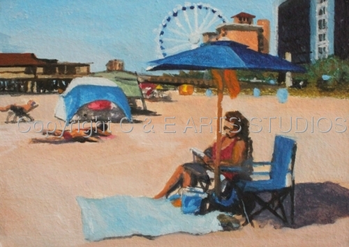 """Myrtle Beach VII Study  """"Reading & Relaxing"""" (large view)"""