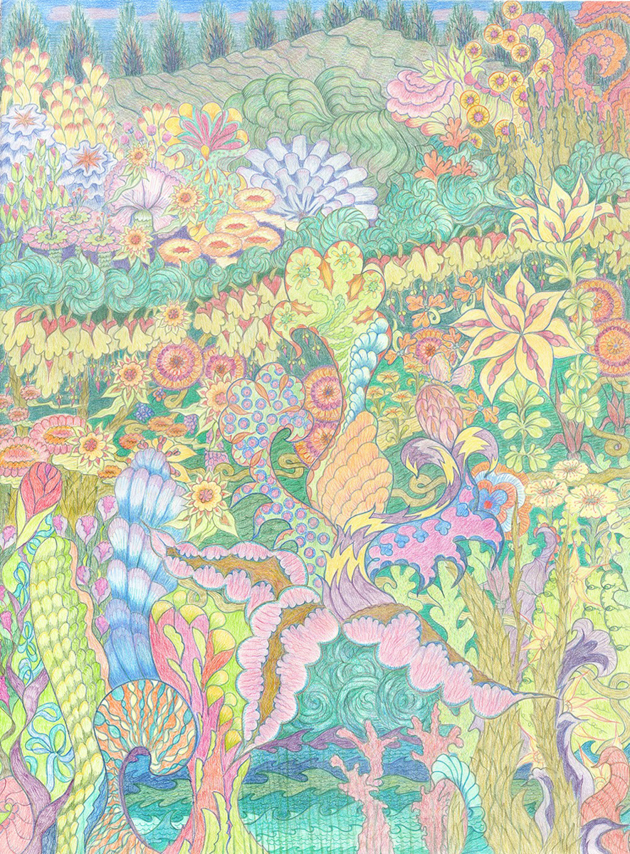Sunlit Fantasy Garden (#1611) (large view)