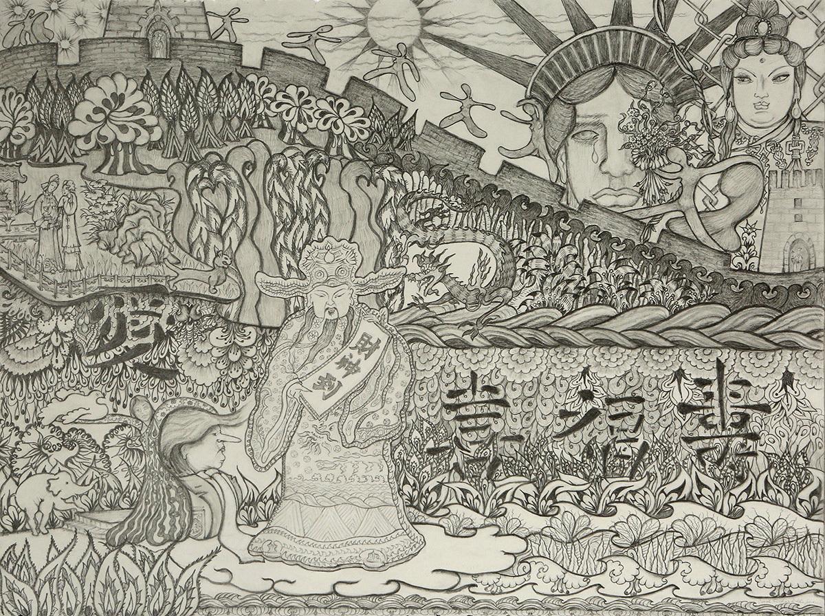 Liberty, Quan Yin & Money God (large view)