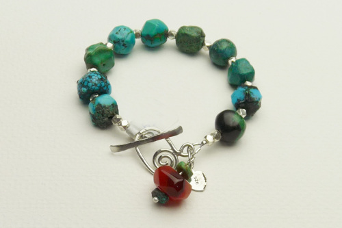 Turquoise Nuggets and Sterling Silver Bracelet