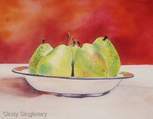 """""""Pears in a Bowl"""" (large view)"""