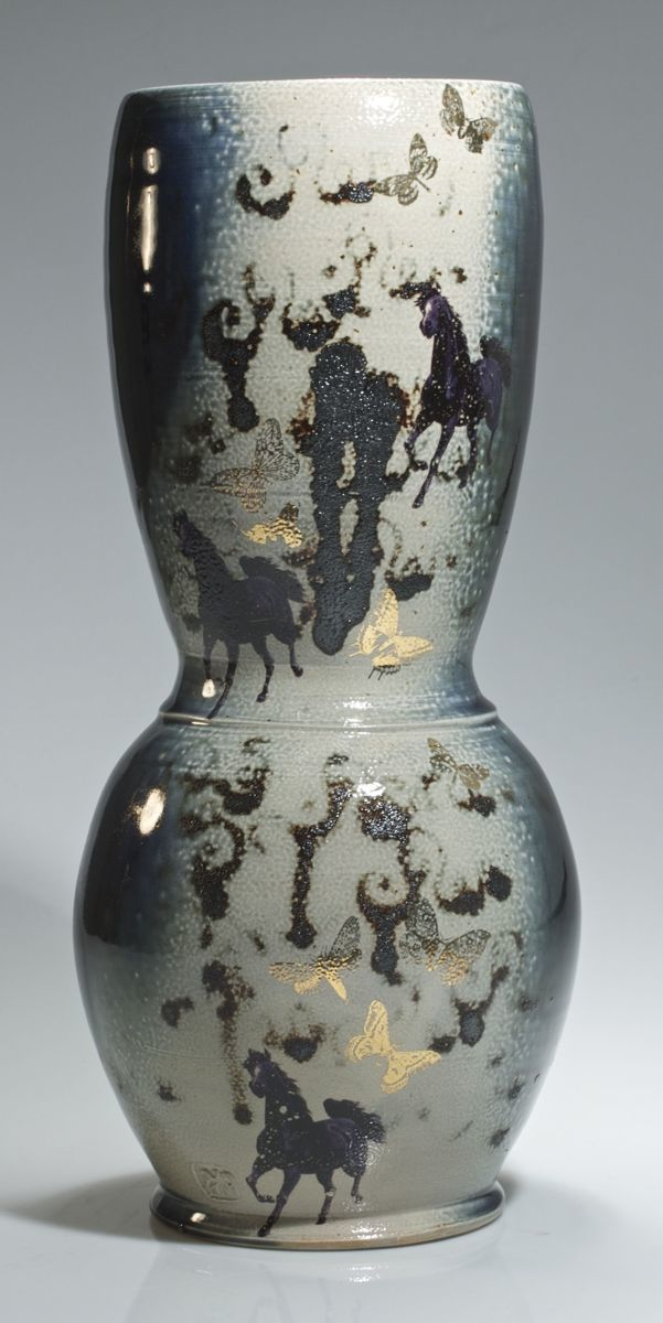 horse & butterfly vase (large view)
