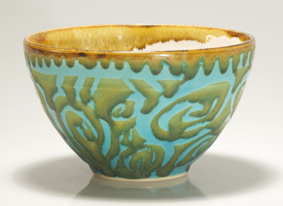 Turquoise Gold Bowl (large view)