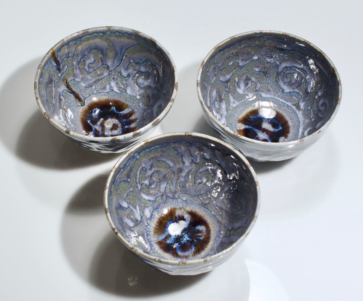 curly blue bowls (large view)
