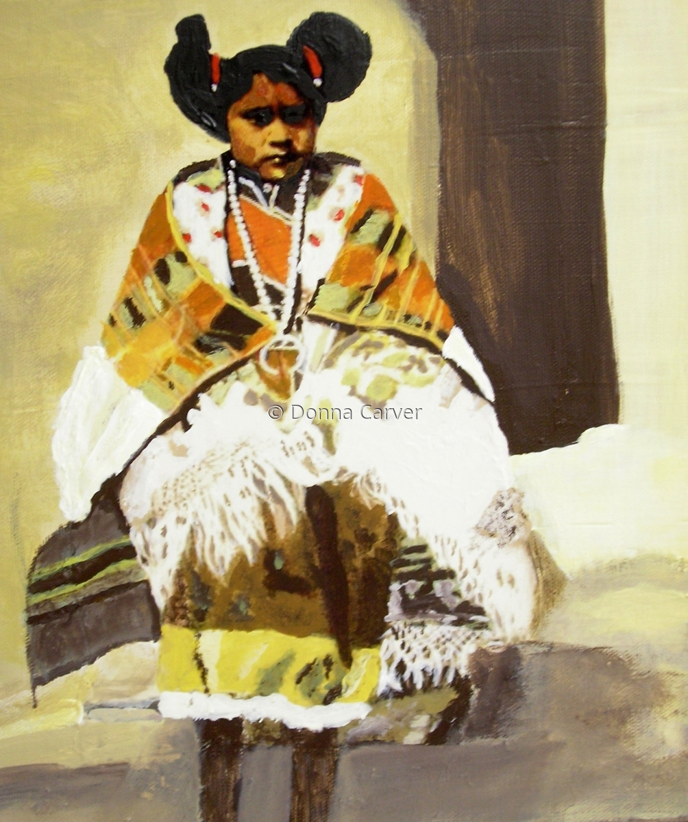Young Hopi Girl-SOLD (large view)
