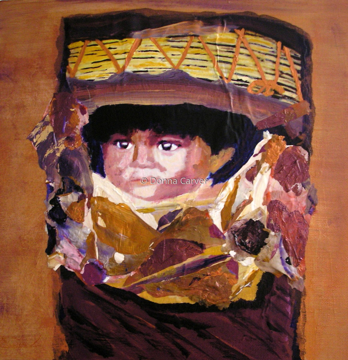 Baby in Papoose SOLD (large view)