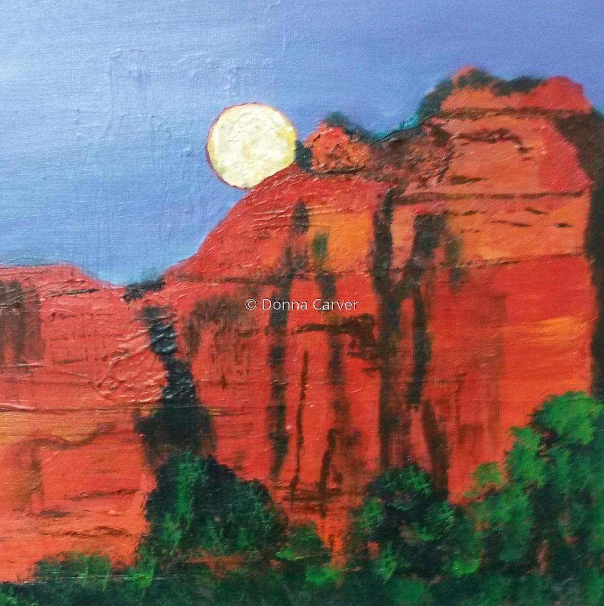 Sedona Sunset  SOLD (large view)