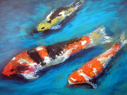 Koi In Motion  SOLD (large view)