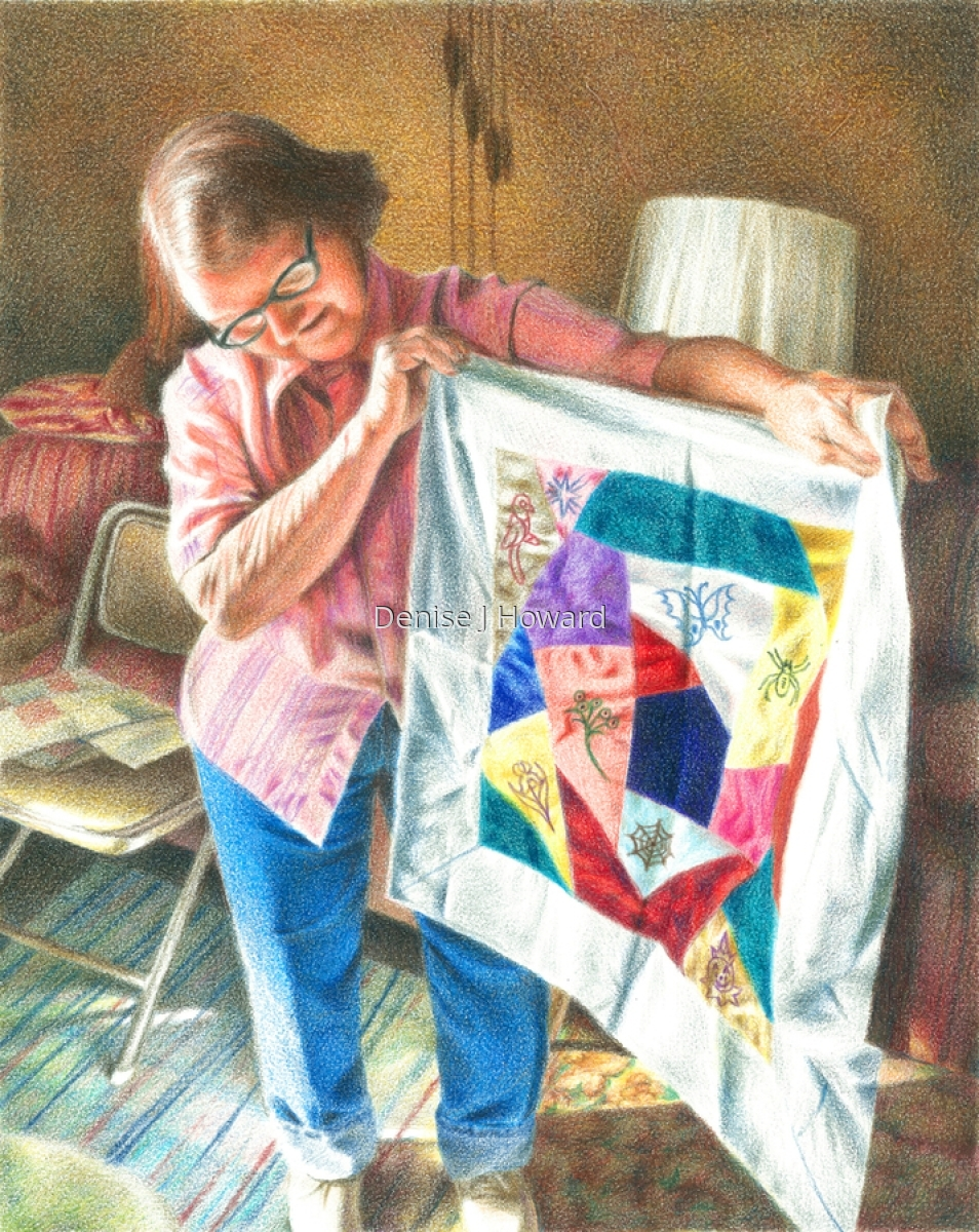 Wynona Is Quilting Again (large view)