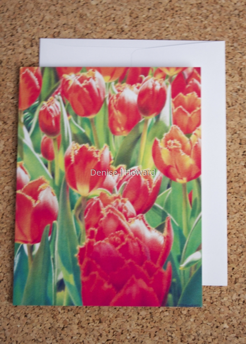 Floral note card (large view)