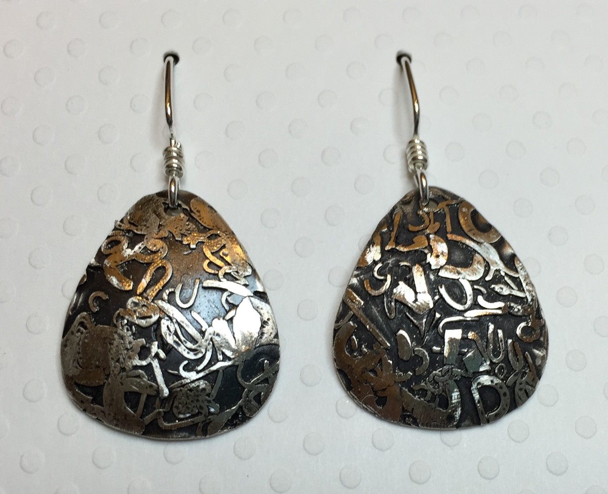 Silver Bits and Pieces Earrings (large view)
