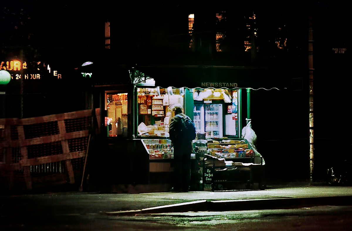 NEW YORK NEWSTAND, 3AM (large view)