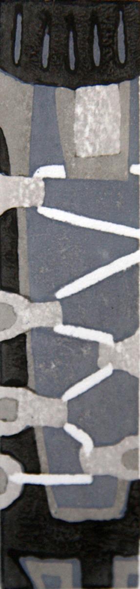 roller blades, Japanese woodblock print, moku hanga (large view)