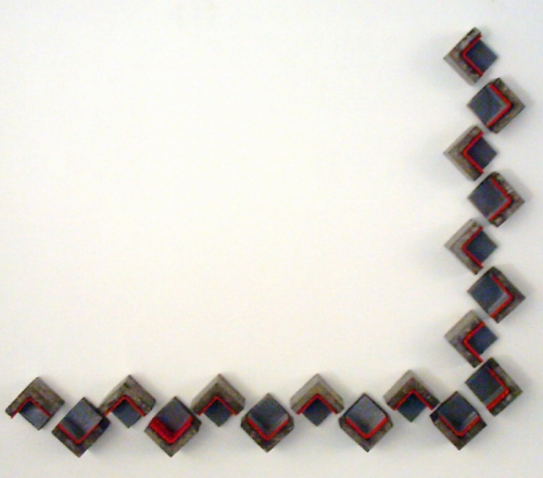 Wall installation, cast concrete and encaustic.  (large view)