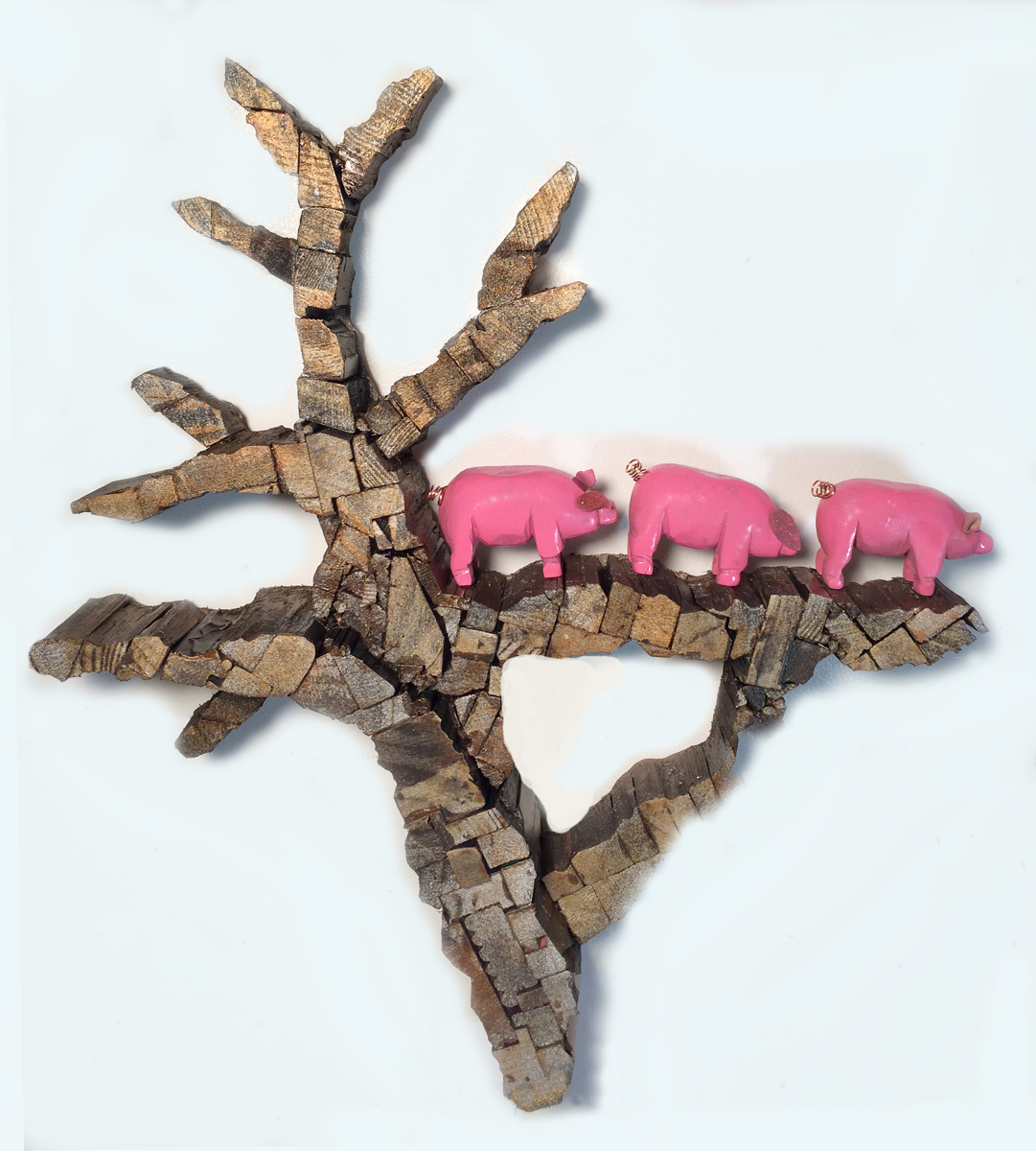 Three Little Pigs Out on a Limb (large view)