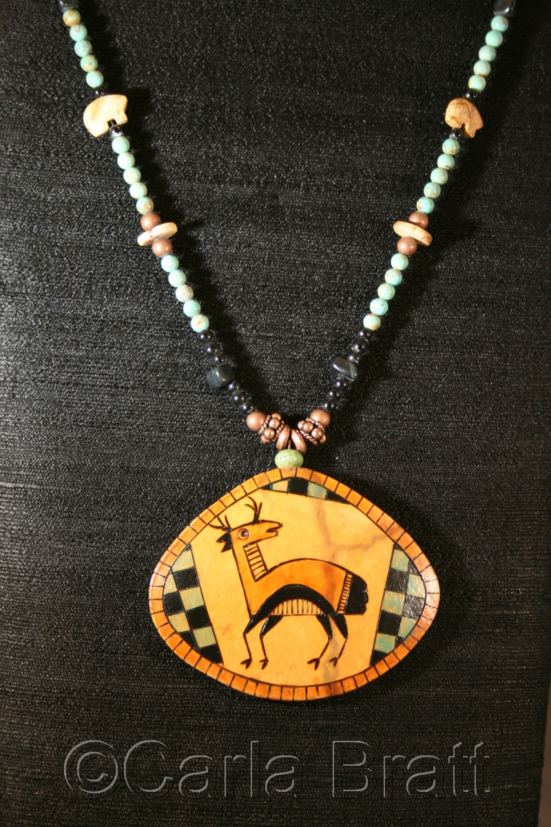 Antelope Totem Gourd Shard Necklace (large view)
