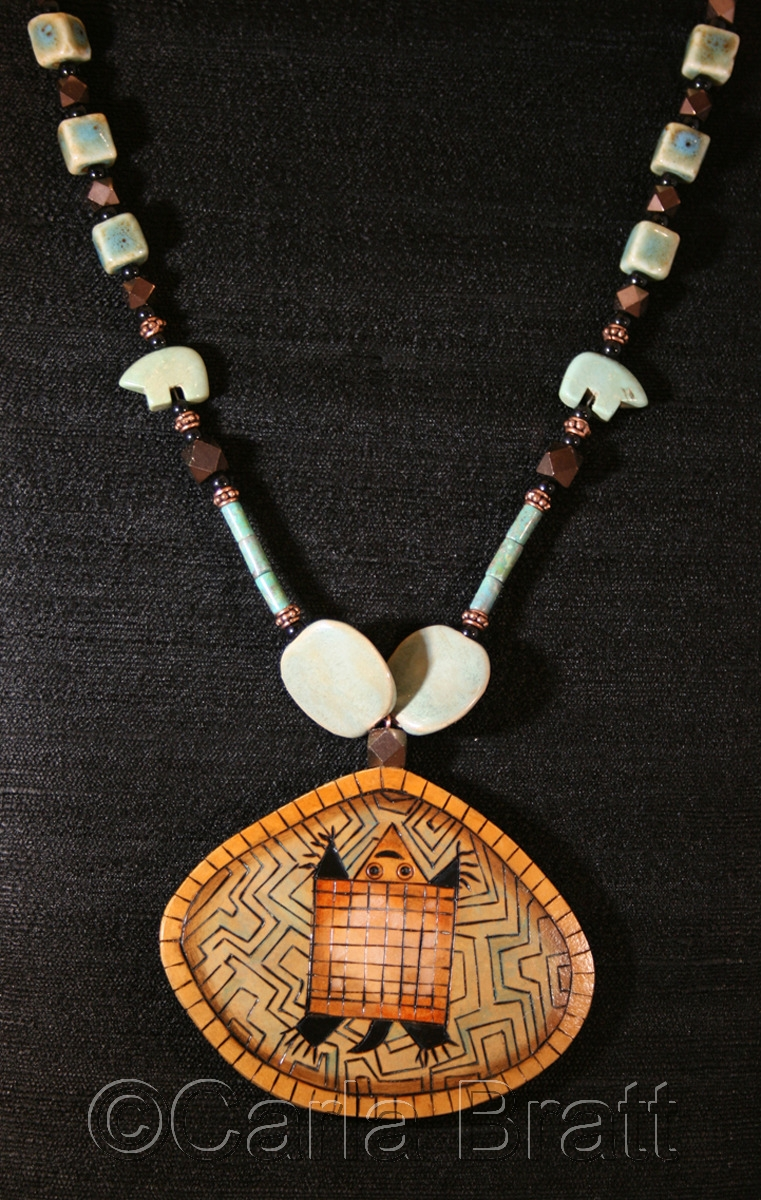 Turtle Dreams Gourd Necklace (large view)