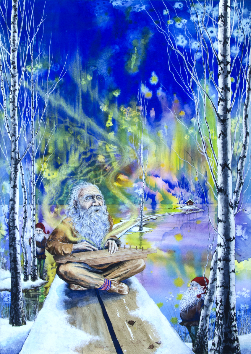 Vainemonen Playing the Kantele (large view)