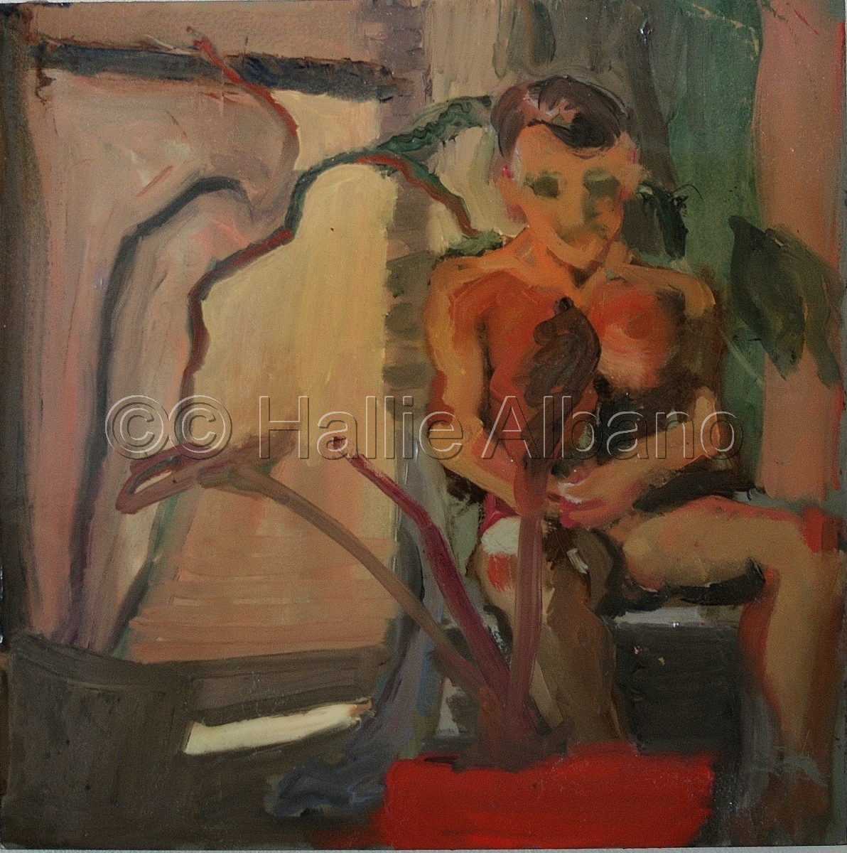 seated figue,oil painting,still life (large view)