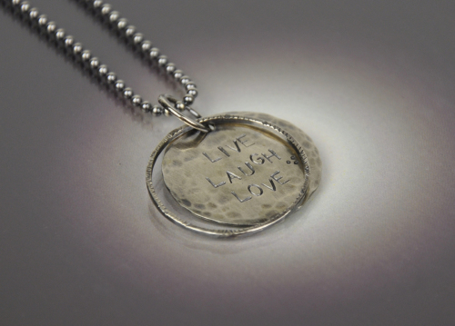 LIVE LAUGH LOVE Floating Necklace