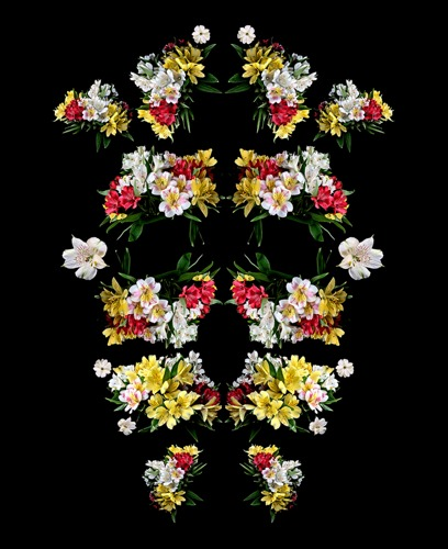 I am a Flower (Power Mask) Red Yellow White