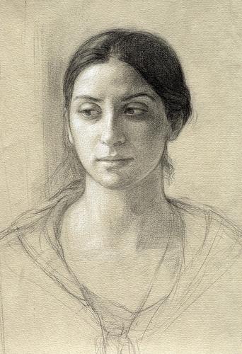 Portrait of Deidre, Study