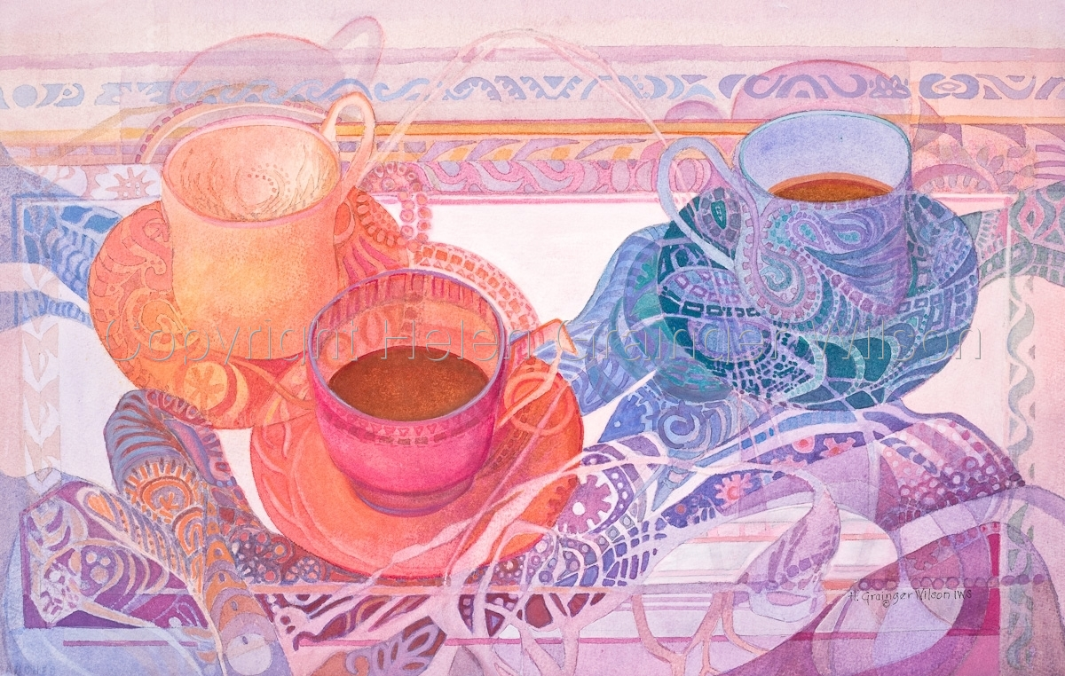 Tea with Paisley by Helen Grainger Wilson (large view)
