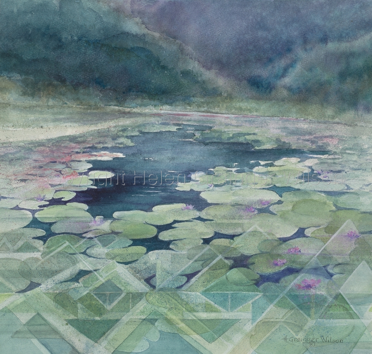 Coeur d'Alene Waterlilies by Helen Grainger Wilson (large view)