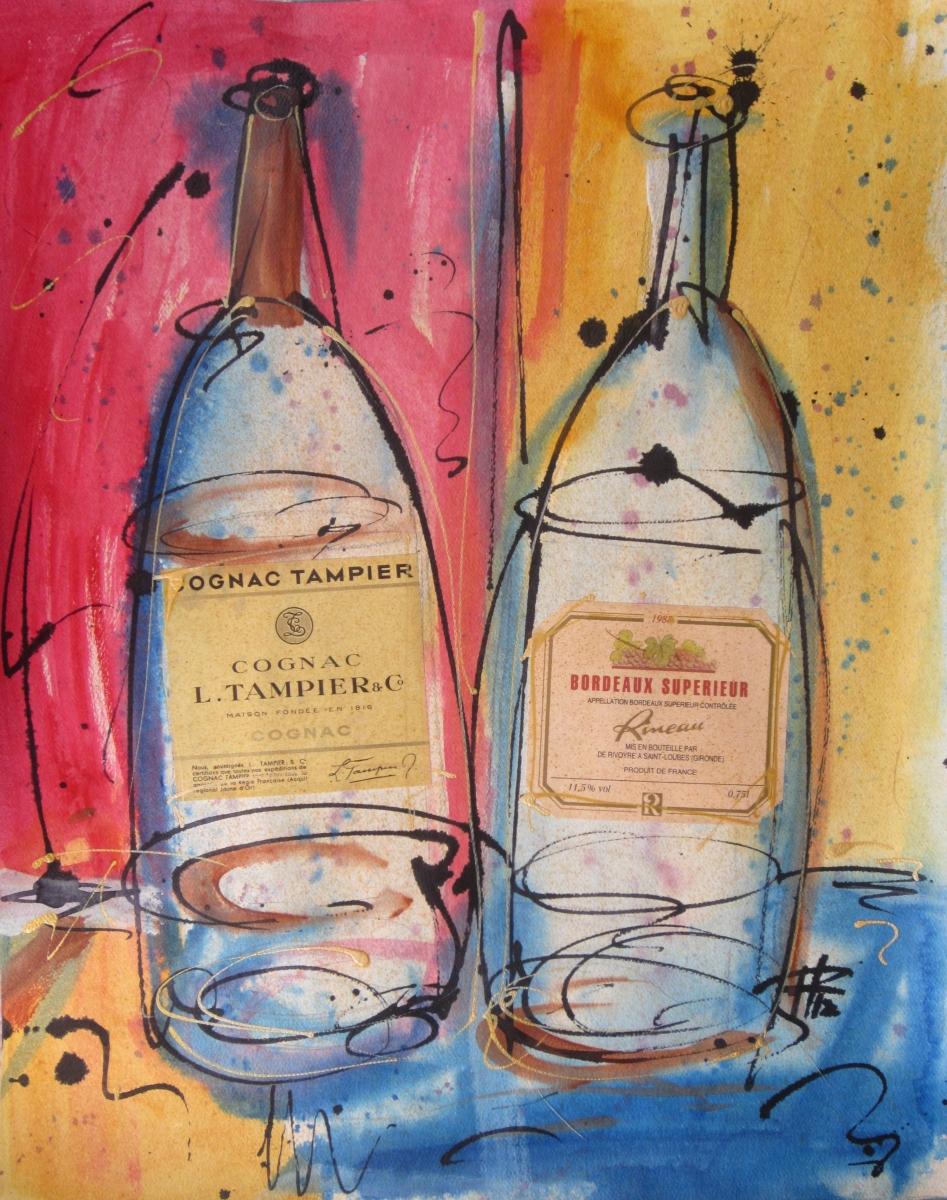 Cognac & Bordeaux (Vintage Wine) (large view)