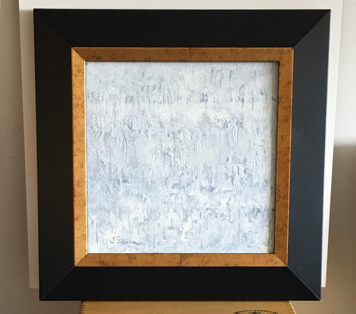 White Textural Abstract, framed  (large view)