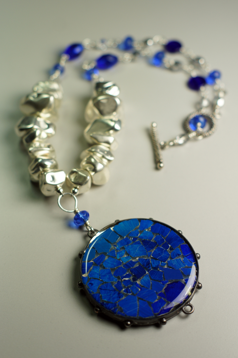 Eggshell Mosaic Necklace (large view)