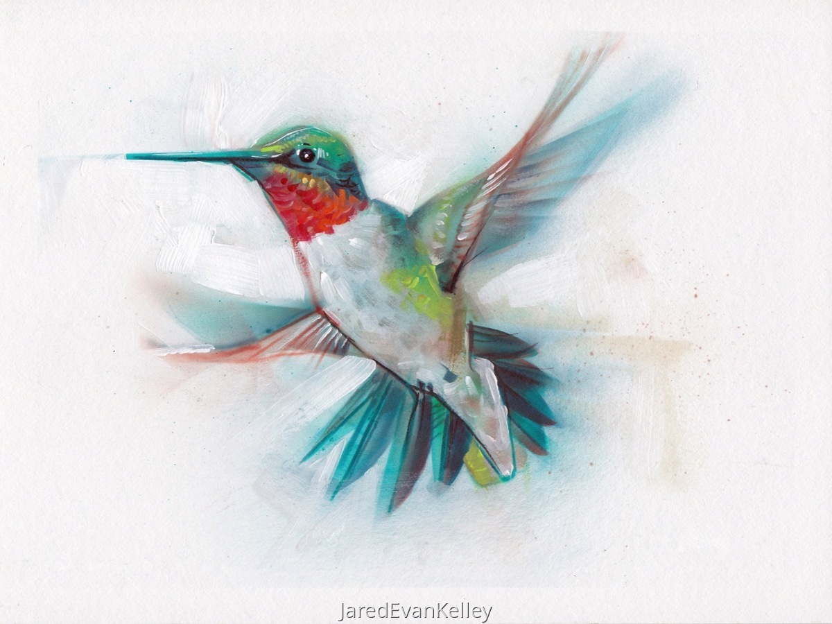 Ruby-Throated Hummingbird (large view)