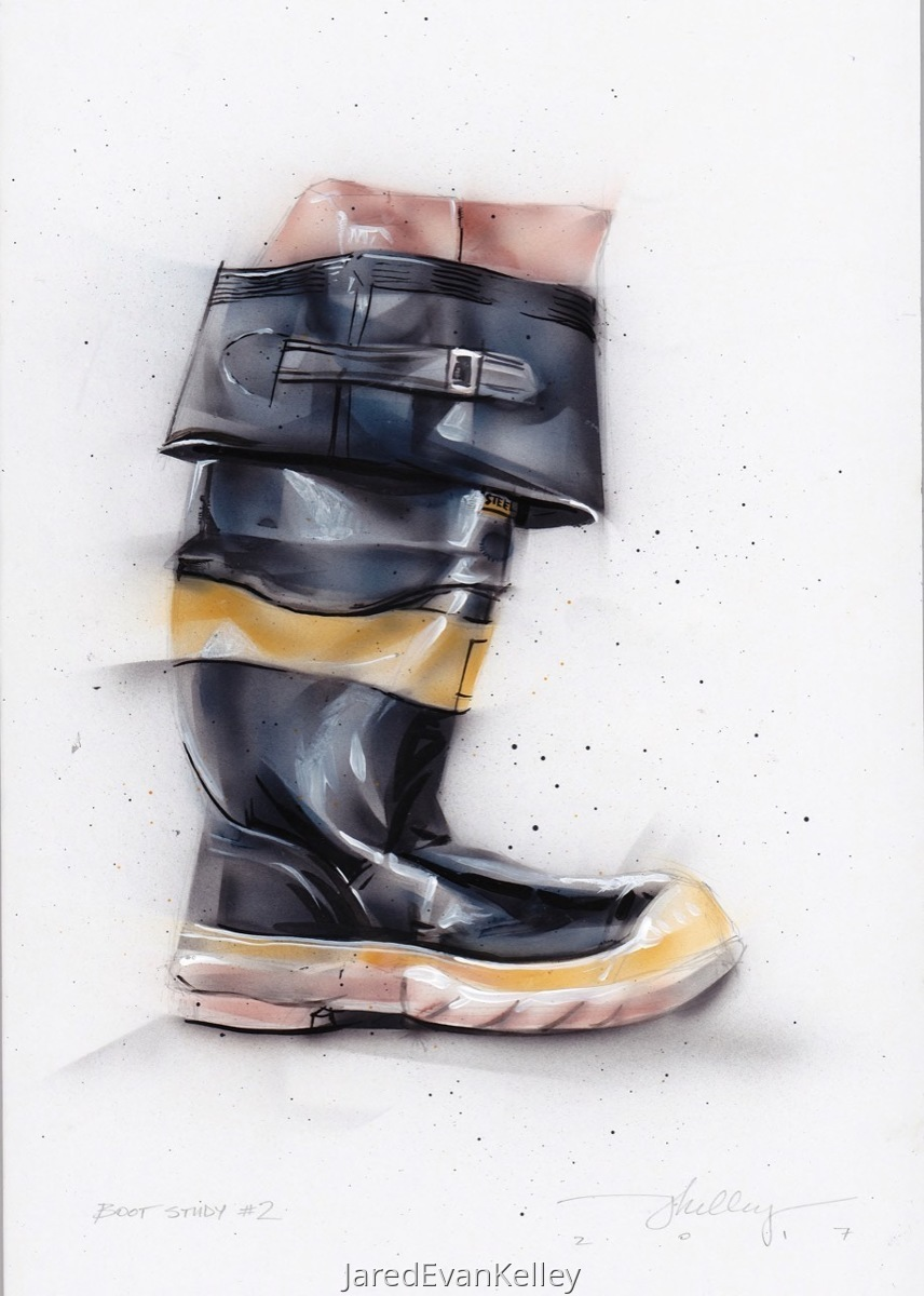 Firefighter Boot Study No.2 (large view)