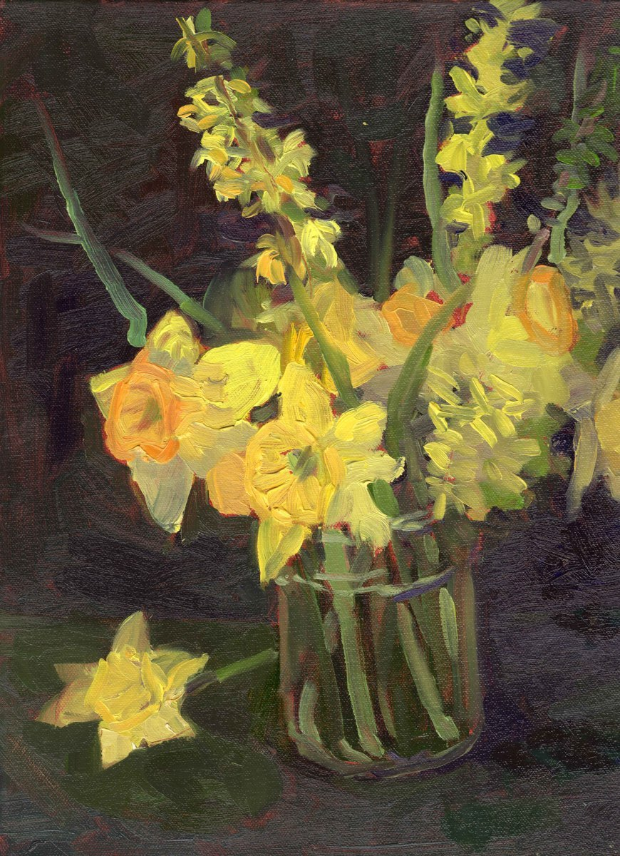 Daffodils and Forsythia (large view)
