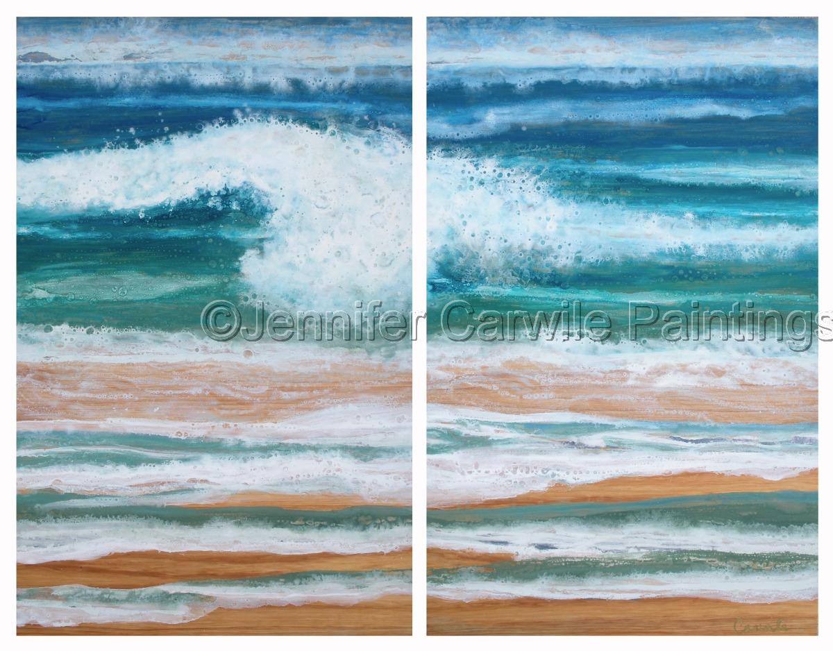 Wave and Sandbar (large view)