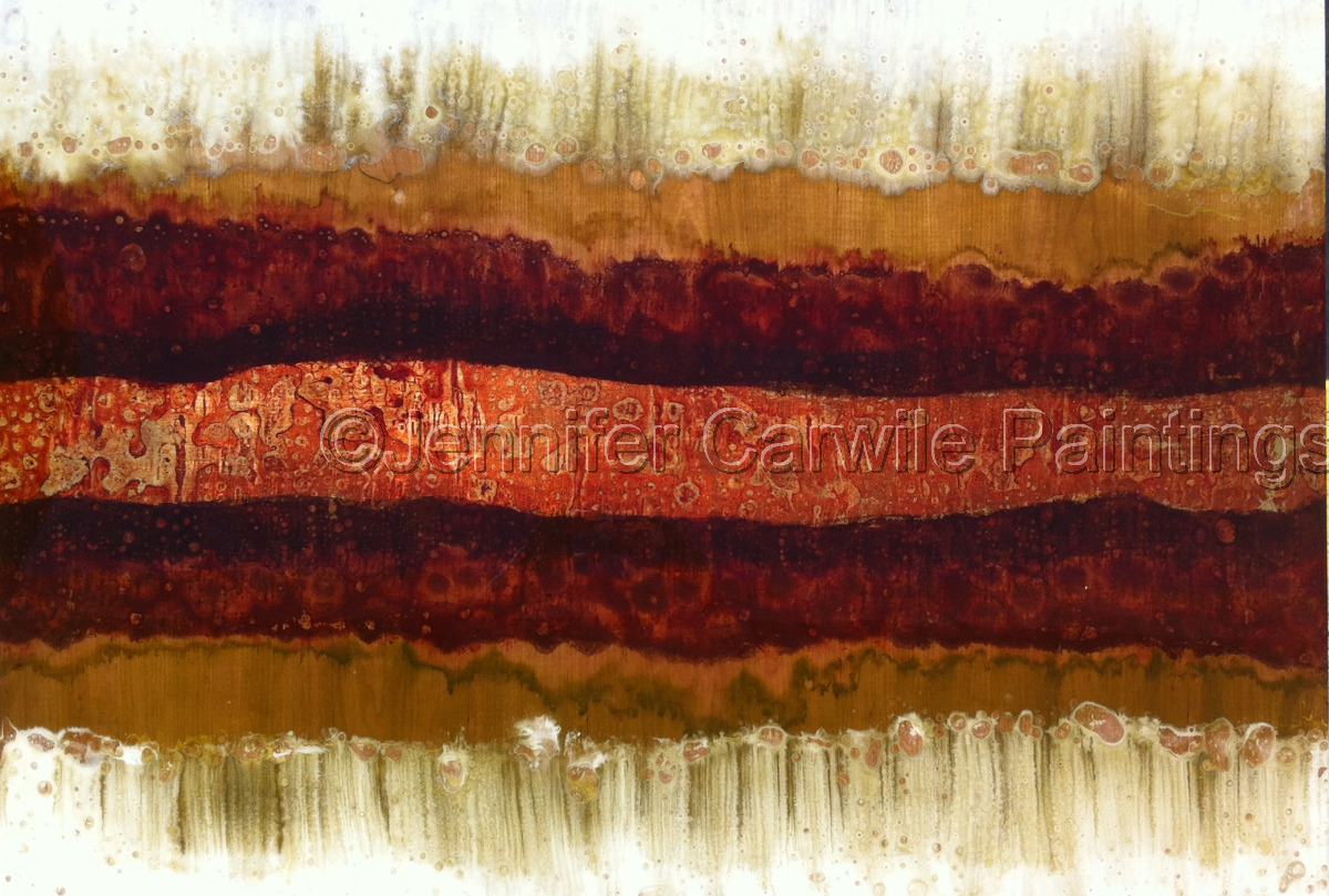 Vein of Gold on Mahogany (large view)