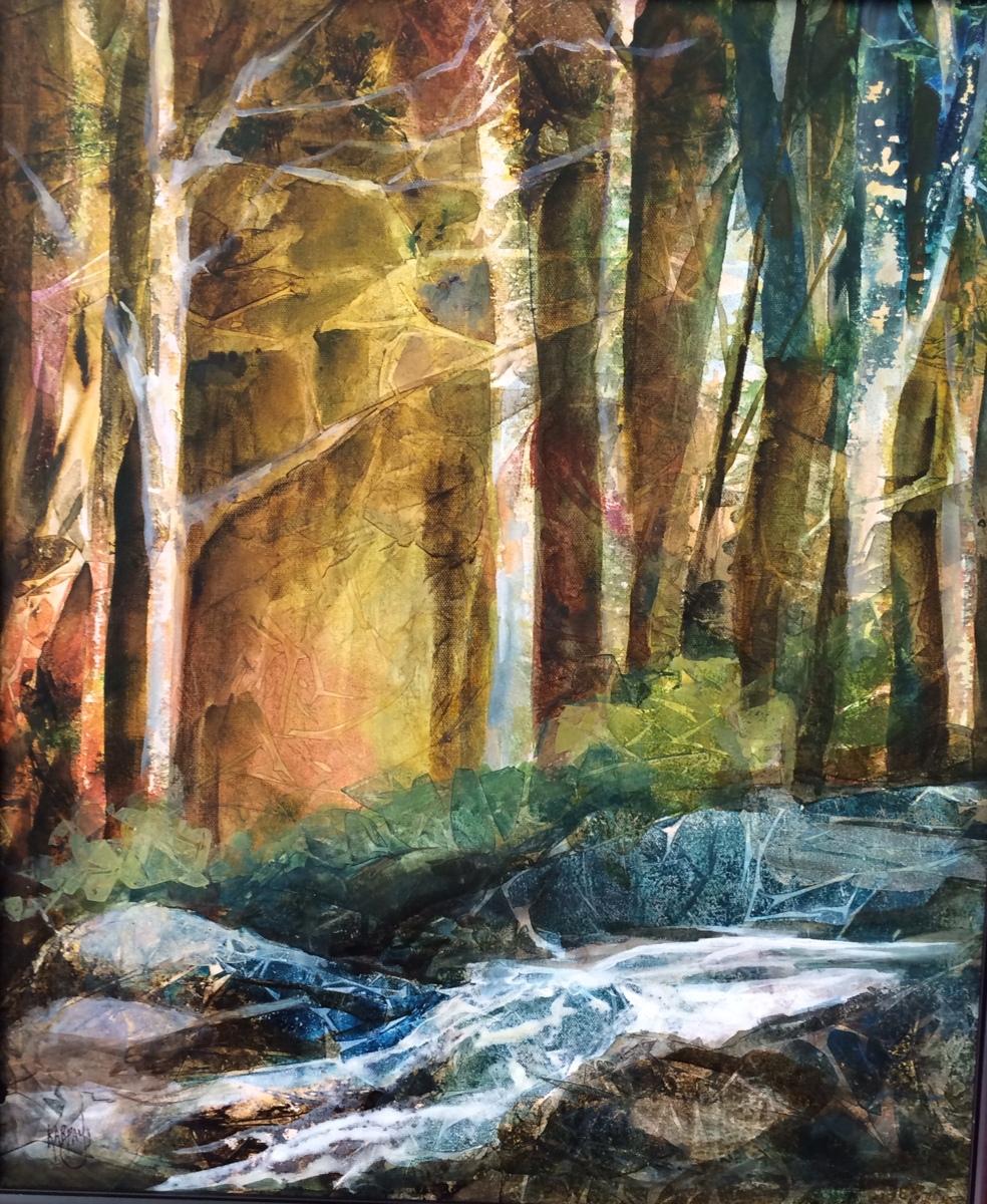 """Woodland Magic, 20"""" X 16',  Acrylic (large view)"""