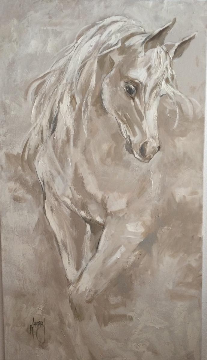 "White Horse, 36"" X 60"",  Acrylic (large view)"