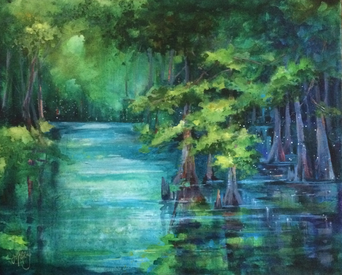 Fireflies in the Cypress, High springs (large view)