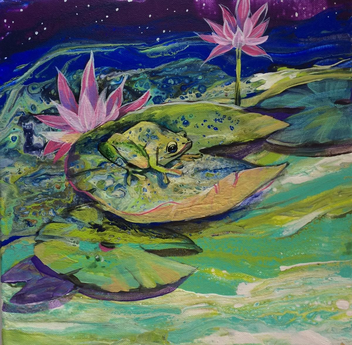 Sweet Lotus Frog (large view)