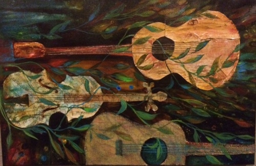 """Riversong, 24"""" X 36"""" mixed media (large view)"""