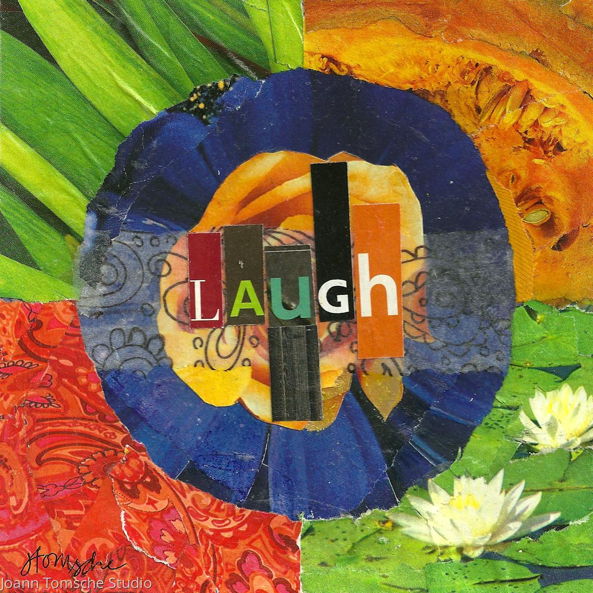 Laugh art tile (large view)